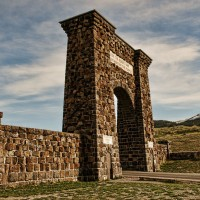 The Roosevelt Arch greets visitors at the north entrance to Yellowstone National Park. (Flickr photo by Pete Zarria - click to enlarge)