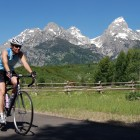 Bicyclists and others may use roads in Grand Teton National Park starting Friday, March 27. Roads open to cars May 1. (NPS photo)