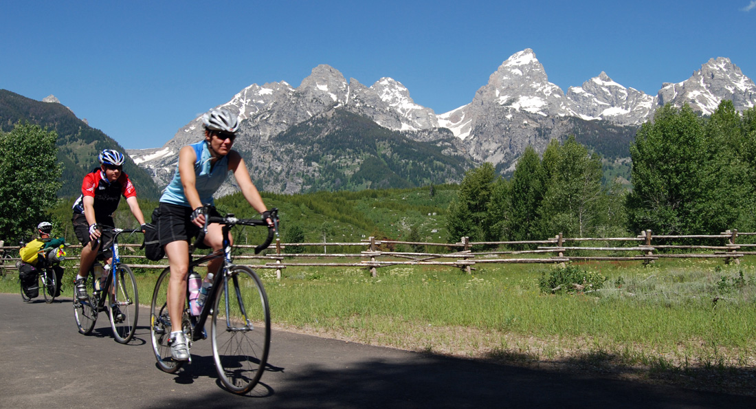 Bicyclists and others may use roads in Grand Teton National Park starting Saturday. Roads open to cars May 1. (NPS photo)