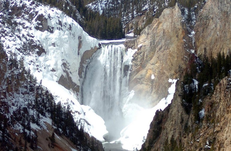 The Lower Falls at the Grand Canyon of the Yellowstone will be accessible by auto on Friday when some roads are opened in Yellowstone National Park.