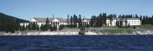 Lake Hotel, as seen from Yellowstone Lake, is the oldest standing hotel in Yellowstone National Park. (NPS photo - click to enlarge)