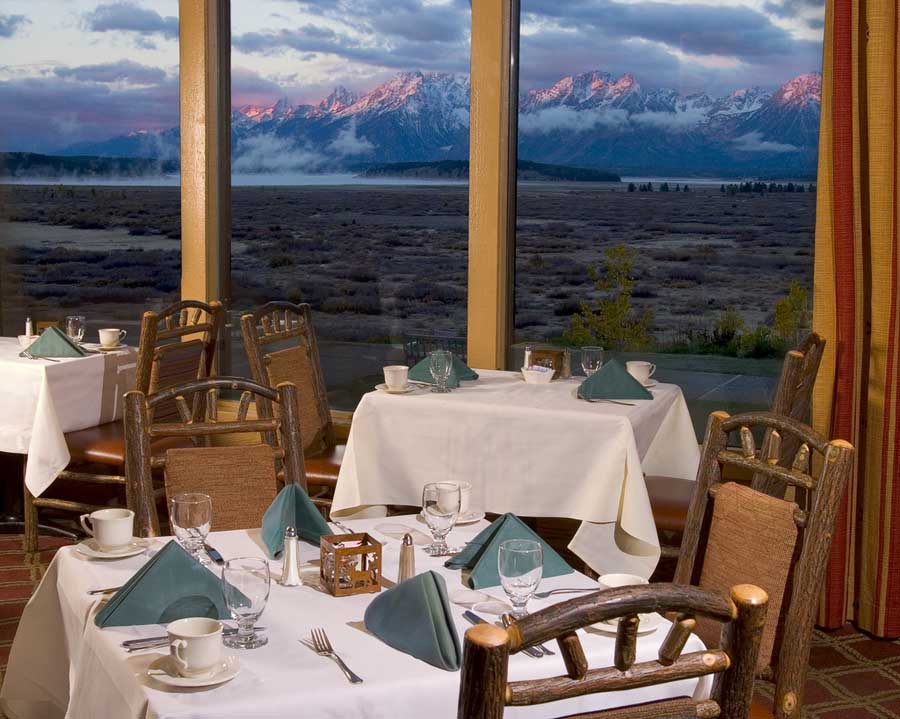 Concessioner Grand Teton Lodging Company offers  severl items made from scratch using organic, sustainably raised ingredients in its Mural Dining Room at the Grand Teton Lodge. (courtesy photo - click to enlarge)