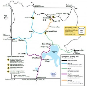 Yellowstone 2012 road map