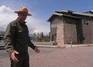 Chris Finlay, Grand Teton National ParkÕs chief of facility management, leads a tour of the National Park Service headquarters for the park in Moose. (Ruffin Prevost/Yellowstone Gate - click to enlarge)