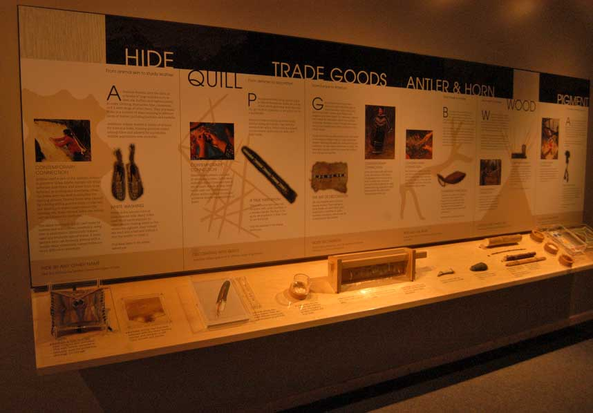New interpretive displays for the David T. Vernon Collection are part of a renovation of the Colter Bay Visitor Center in Grand Teton National Park.(Yellowstone Gate/Ruffin Prevost - click to enlarge)