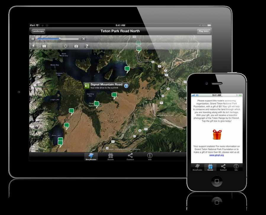 A new mobile app for smartphones and tablets allows Grand Teton National Park visitors to learn more about specific elements of the park as they travel along the Teton Park Road.
