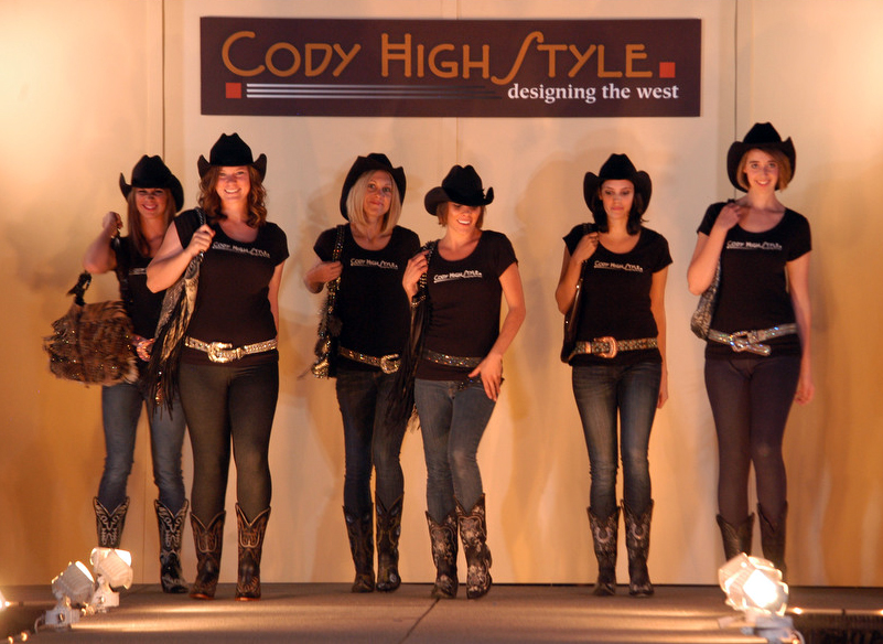 Local Models Highlight Western Designs During Cody High Style Fashion Show Yellowstone Gate
