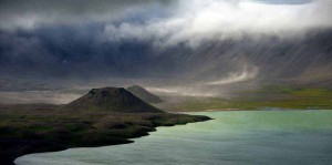 Clouds form over Alaska's Aniakchak National Monument and Preserve, the least-visited National Park Service unit. (Photo courtesy of Roy W. Wood - click to enlarge)