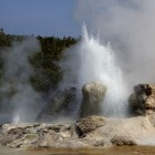 Grotto Geyser in eruption