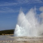 Great Fountain Geyser in eruption 28 Oct 2012