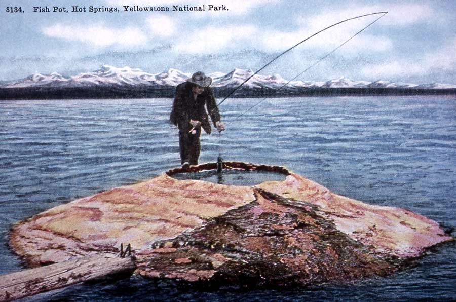 An 1880s tale of catching and cooking a fish on same line for Yellowstone lake fishing