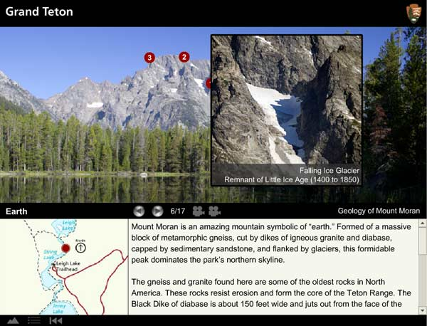 "Visitors can go online to take a ""virtual hike"" around String Lake in Grand Teton National Park."