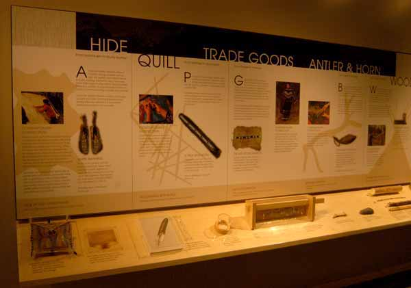 A museum at the Colter Bay Visitor Center in Grand Teton National Park tells the story of native peoples of the region and the surrounding intermountain West. (Ruffin Prevost/Yellowstone Gate)