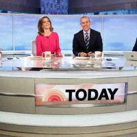 &quot;Today&quot; show anchors Willie Geist, left, Natalie Morales, Matt Lauer and Al Roker will broadcast Tuesday from Old Faithful in Yellowstone National Park. (NBC photo by Peter Krame)