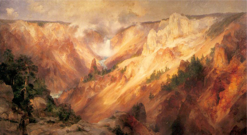 The Grand Canyon of the Yellowstone, a painting by Thomas Moran.