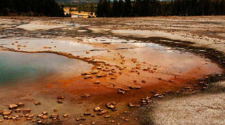 Grand Prismatic Spring in Yellowstone National Park displays a range of colors in its shallow and deeper waters. Garrett Munsey Natrona County High School