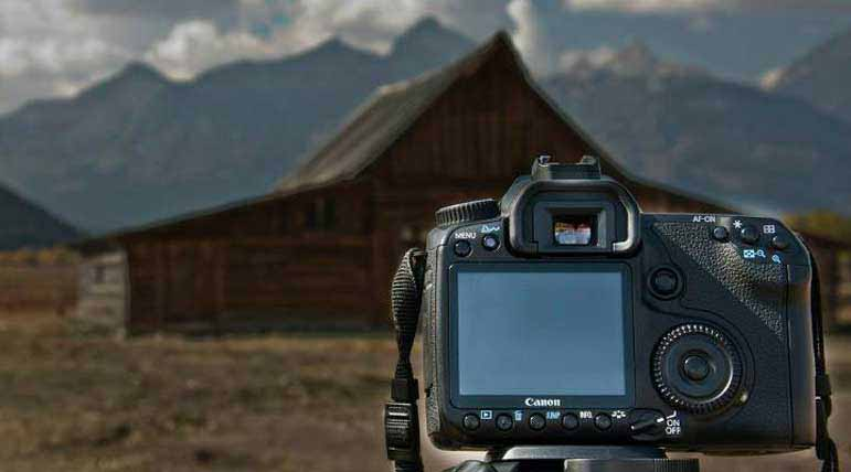 A camera awaits the perfect moment to capture the The T.A. Moulton Barn on Mormon Row in Grand Teton National Park. Erik Bale Natrona County High School