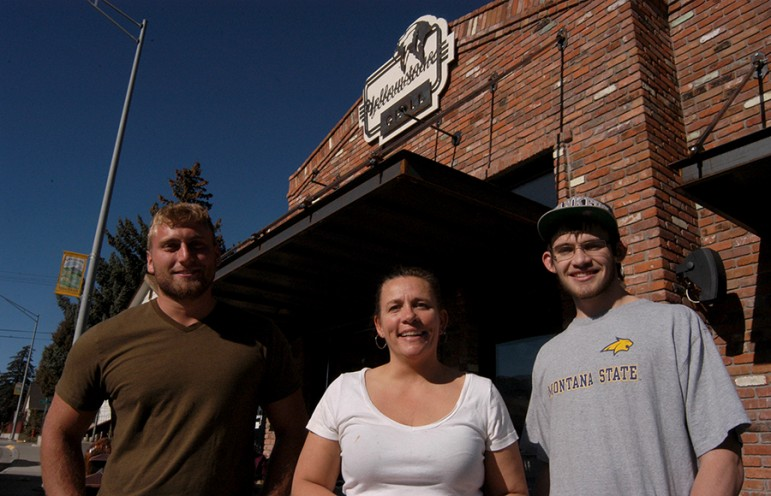 Aaron Van Egmond, Schalene Darr and Hayden Darr report that the October shutdown of Yellowstone National Park meant a 50 percent drop in revenues at the Yellowstone Grill in Gardiner, Mont. (Ruffin Prevost/Yellowstone Gate)