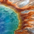 A visitor to Yellowstone National Park was killed while climbing a hill for a better view of Grand Prismatic Spring.