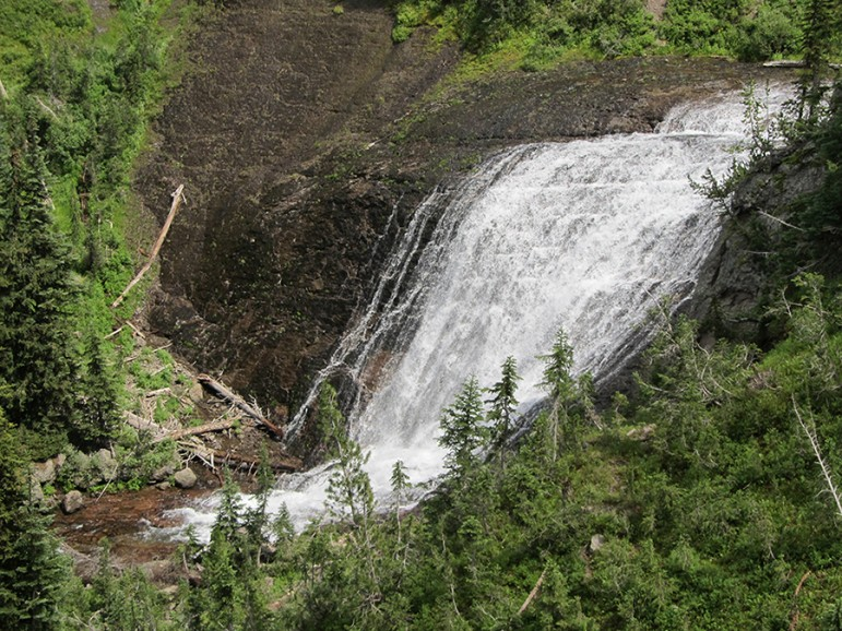 The Bechler area is known for its high concentration of waterfalls, some of which can be seen from the trail. Others like Twister Falls are viewed just off the main path.