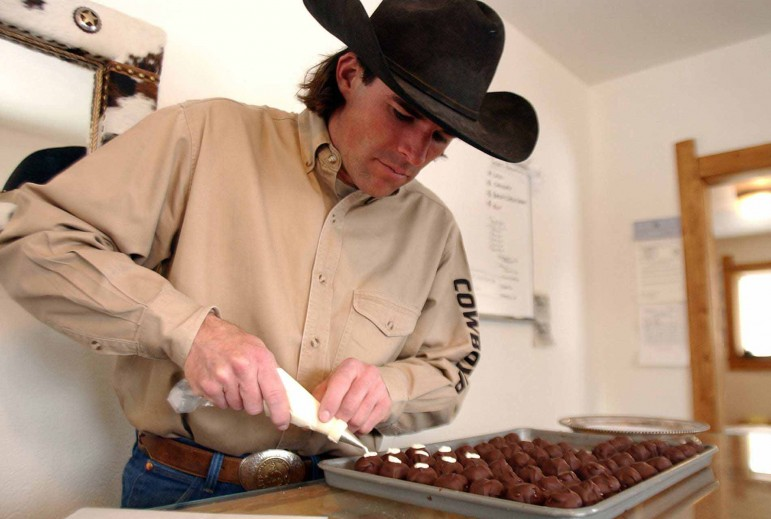 Tim Kellogg, of Meeteetse, Wyo., creates hand-made gourmet truffles and other confections from fresh, local ingredients. His Meeteetse Chocolatier stores in Meeteetse and Jackson, Wyo. offer several varieties of truffles, made using recipes and techniques Kellogg learned from his grandmother.