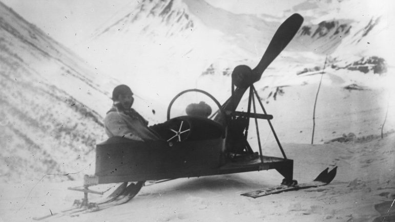 Polar explorer Ernest Shackleton pioneered the use of motorized sleds during an early 1900s expedition to the Antarctic.
