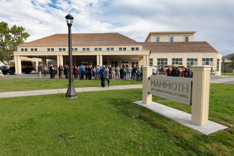 The National Park Service celebrated the reopening Aug. 30 of the Mammoth Hot Springs Hotel in Yellowstone National Park. (NPS/Jacob W. Frank)