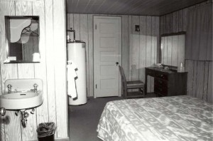 The National Park Service is proposing to convert cabins like this typical unit used by concession workers at Old Faithful back to their original purpose of visitor lodging. (Image from Old Faithful Area Historic Resource Notebook - click to enlarge)