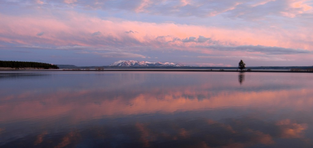 Some Yellowstone National Park visitors have reported hearing odd sounds in the skies above Yellowstone Lake on clear days in the early mornings. (Ruffin Prevost/Yellowstone Gate - click to enlarge)
