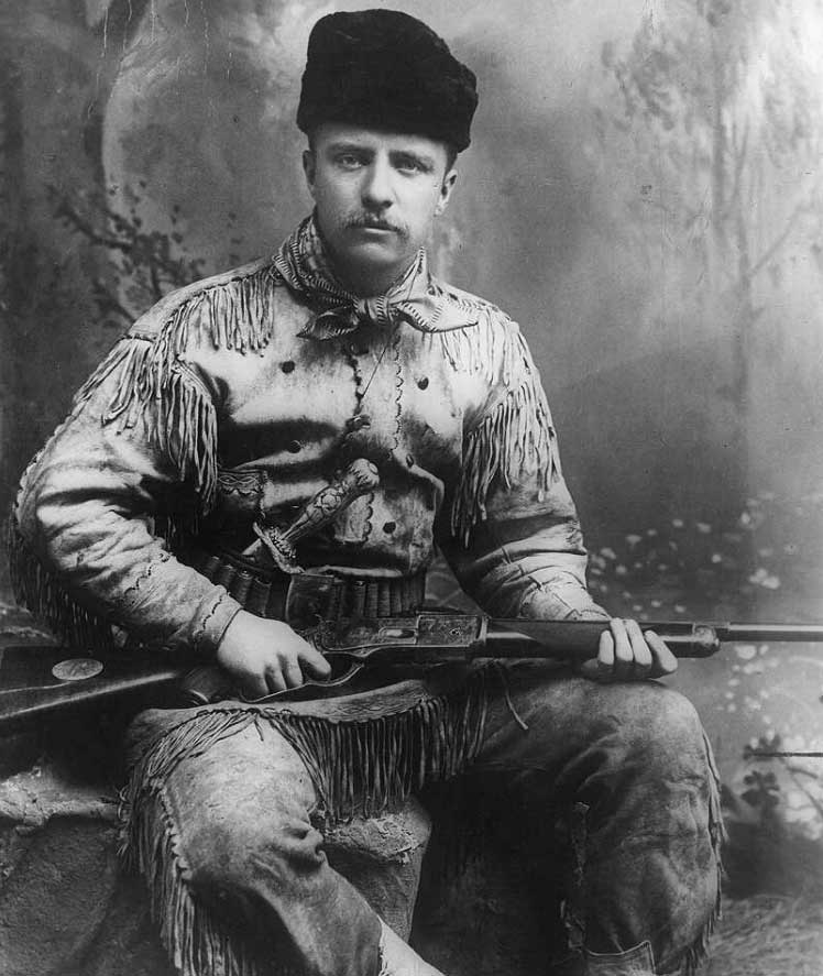 Theodore Roosevelt was an avid outdoorsman and enthusiastic big game hunter. (click to enlarge)