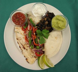Trout fajitas made with sustainably raised Montana fish are served in some Yellowstone National Park dining locations by concessioner Xanterra Parks and Resorts. (courtesy photo - click to enlarge)