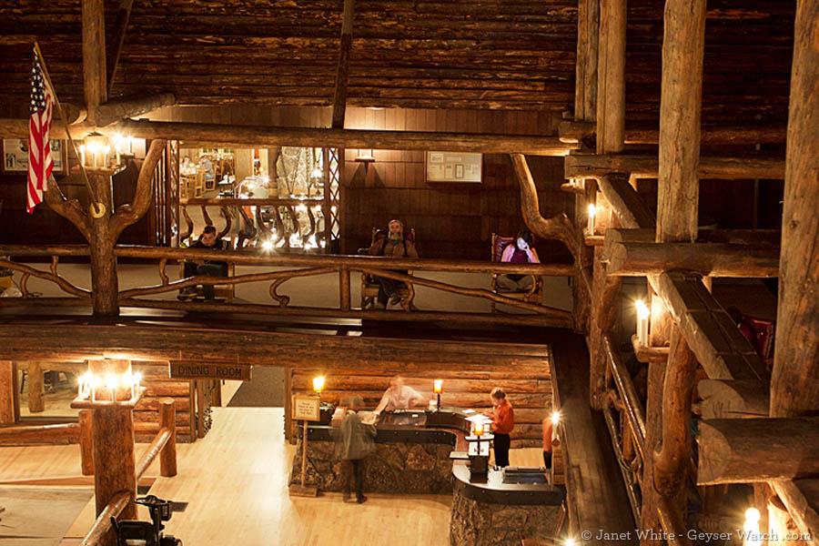 Old Faithful Inn second floor view