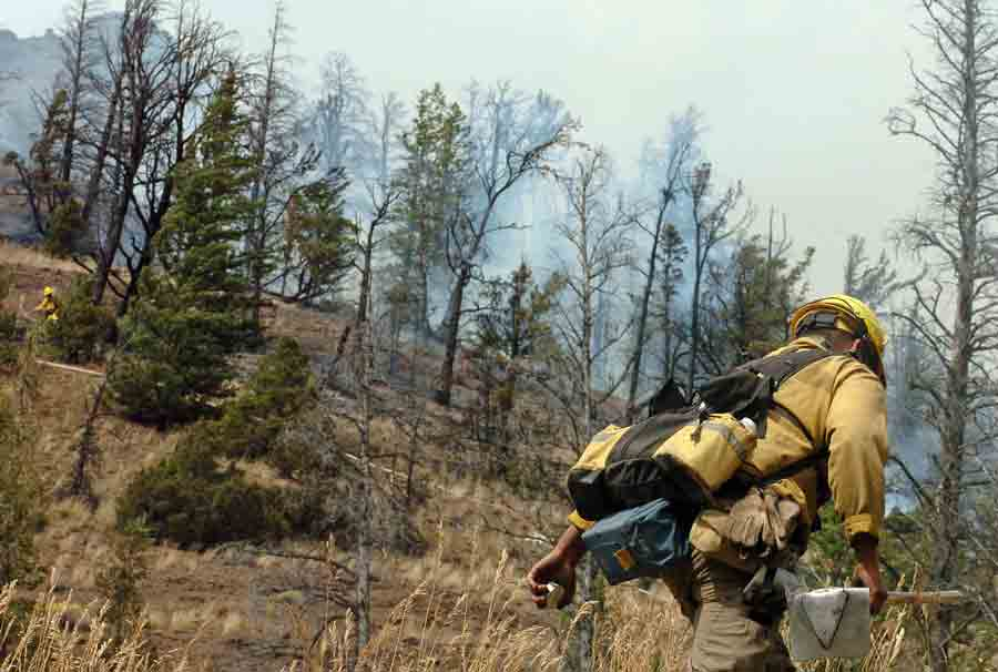 Fire danger in Yellowstone and Grand Teton national parks is high or very high going into the Fourth of July. (Ruffin Prevost/Yellowstone Gate file photo - click to enlarge)