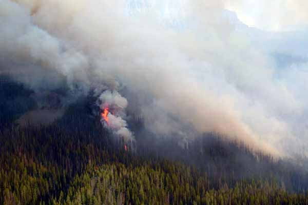 The North Buffalo Fire in the Bridger-Teton National Forest is among many in the greater Yellowstone area producing smoke and haze in gateway communities.