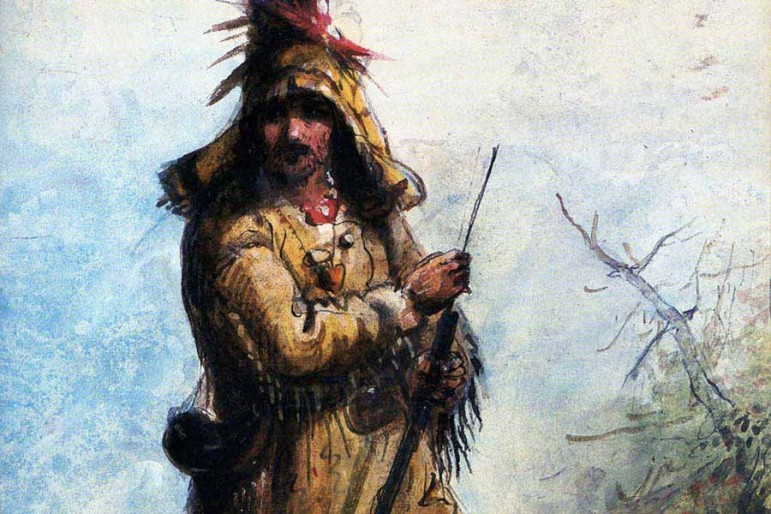 "Illustration ""Old Bill Williams"" by Alfred Jacob Miller."