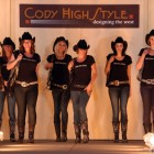 Models show off accessories by Kippys on Wednesday during the Cody High Style Fashion Show in Cody, Wyo. (Ruffin Prevost/Yellowstone Gate - click to enlarge)