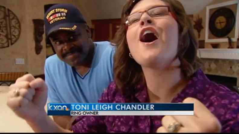Toni Leigh Chandler describes loosing a college ring in the snow during a visit last year to Grand Teton National Park. (©KXAN-Austin)
