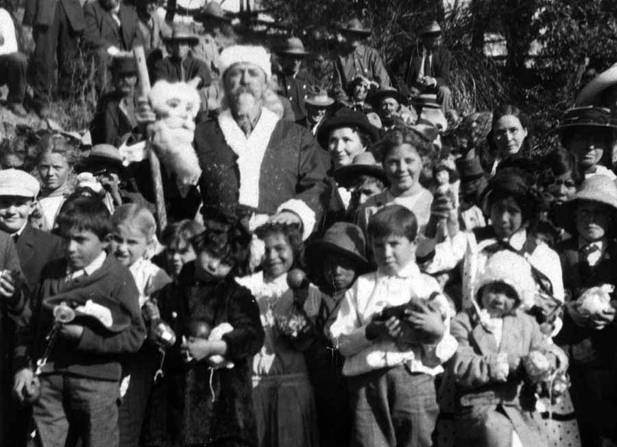 Buffalo Bill Cody never celebrated Savage Christmas in Yellowstone. But he did dress as Santa Claus while visiting a group of kids in Arizona during Christmas of 1910. (Buffalo Bill Historical Center - click to enlarge)