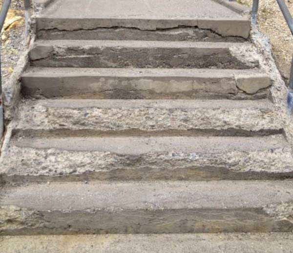 Yellowstone National Park managers are temporarily closing access to the Inpsiration Point viewing area for the Grand Canyon of Yellowstone because crumbling stairs may pose a visitor safety hazard. (NPS photo)