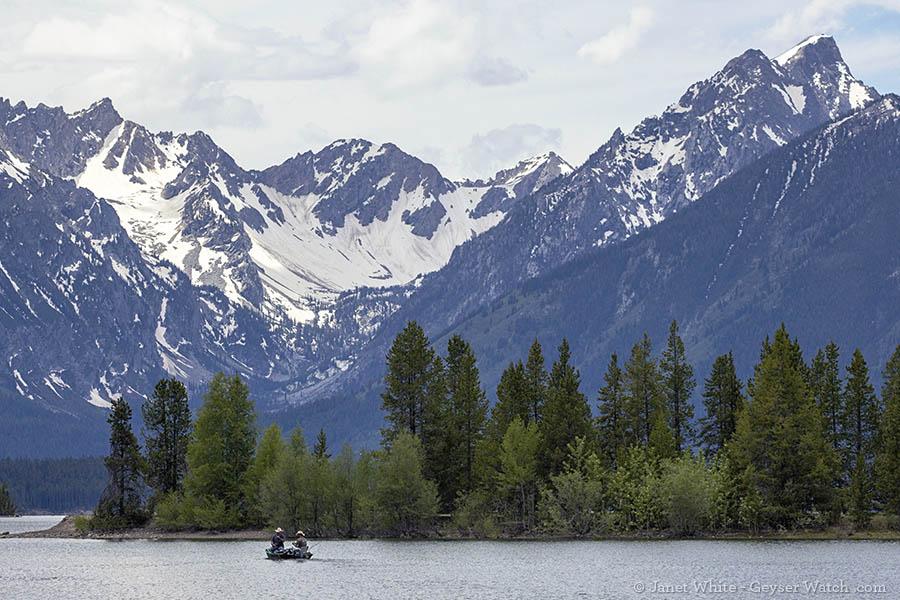 Fishing on Jackson Lake in Grand Teton Nation Park
