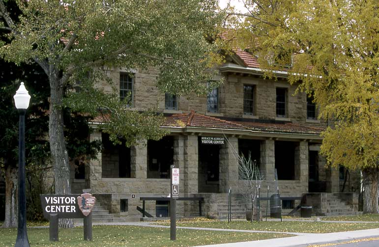 The Albright Visitor Center in Yellowstone National Park was originally built as bachelor officer's quarters by the United States Army in 1909.