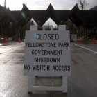 The 16-day shutdown of Yellowstone and Grand Teton national parks in October cost an estimated $21.1 million in lost total visitor and recreation spending to the parks and surrounding communities. (Ruffin Prevost/Yellowstone Gate)