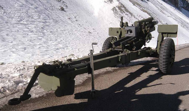 The National Park Service uses a howitzer cannon to fire explosive shells at avalanche chutes above Sylvan Pass in Yellowstone National Park as part of avalanche mitigation efforts. (Ruffin Prevost/Yellowstone Gate)