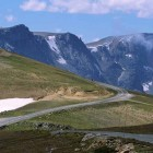 The Beartooth Highway is a high-altitude scenic byway that snakes along the Montana-Wyoming border and tops out at nearly 11,000 feet.