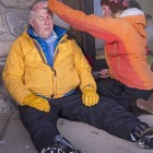 Participants in a wilderness first aid course held earlier this month in Gardiner, Mont. take turns as patients and rescuers while simulating a variety of scenarios.