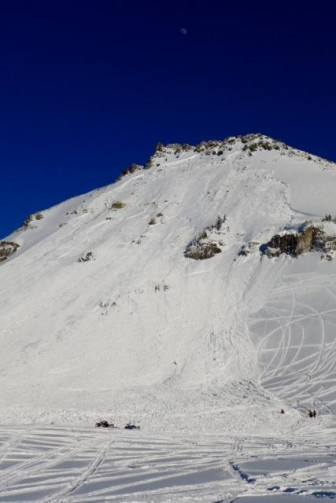 The Crown Butte Avalanche buried and killed a snowmobiler Tuesday outside Cooke City.