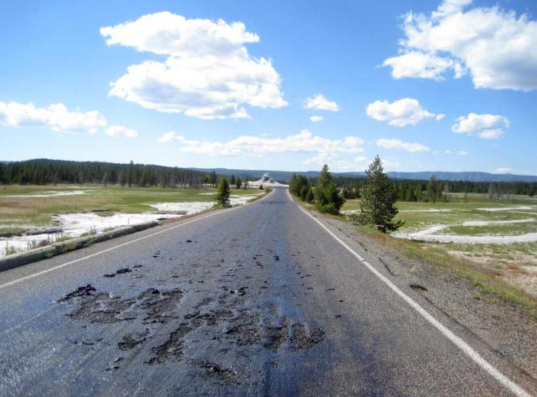 Extreme heat has damaged Firehole Lake Drive in Yellowstone National Park, causing a temporary closure of the popular scenic road in the park's Lower Geyser Basin.