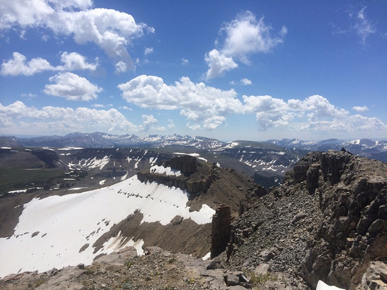 The vantage point of Sheep Mountain in Jackson Hole provides great views of the Tetons.