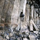 A cave found along the boundary of Yellowstone National Park was revealed after a shift in basalt columns similar to those found in the park's northern range.