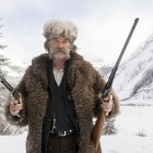 "Actor Kurt Russell appears in the upcoming film ""The Hateful Eight"" wearing a bison hide coat created by Merlin Heinze of Thermopolis, Wyo."